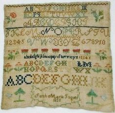 Schoolgirl Samplers - History - Artifacts - Collections - Milwaukee Public Museum