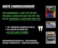 Grote fabrieksverkoop destelbergen -- Destelbergen -- 01/06-04/06