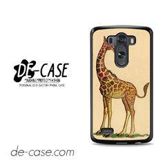 Fancy Giraffe Vintage For LG G3 Case Phone Case Gift Present YO