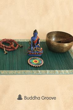 Organic meets ornate with Buddha Groove's seagrass altar mats, each dyed and finished with golden trim. Multiple colors available. Zen Space, Buddha Statues, Plum Purple, Natural Texture, Jewel Tones, Altar, Incense, Hand Weaving, Artisan