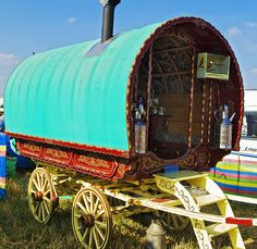 Traditional English Bow-top horse-drawn wagon by Anguskirk, via Flickr