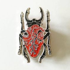 Repost from @blackbeetlepins - Glitter Heart Beetle Pin available through the Link in bio! Etsy.com/shop/blackbeetlepins  (Posted by www.bbllowwnn.com)  #pingame #patchgame #pingamestrong Follow @bbllowwnn on Instagram for more great pins!