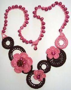 Resultado de imagen para collares tejidos a crochet pinterest
