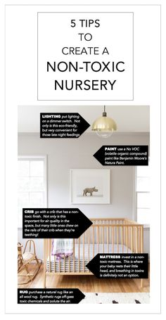 5 TIPS TO CREATE A NON-TOXIC NURSERY -> 22crowns.com // eco-friendly, non-toxic, organic, nursery, boho, ikea crib, gold pendant, animal print shop, moroccan rug, grey paint