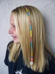 Embroidery thread wrapped hair