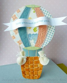 Pieced balloon & woven basket