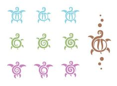 sea turtle tattoos - Bing Images Adding a couple of these to the one I have would be cute. Maybe pink for Addie and Blue for Ayden. Hmmmm...