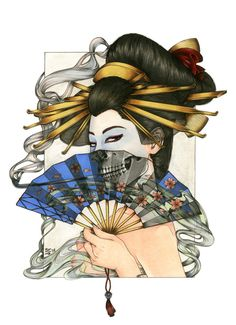 Zoe Lacchei - Geisha Project - Geisha with the Fan