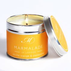 This Marmalade of London Seville Orange & Clementine Medium Candle in a Tin has a juicy orange fragrance enhanced by hints of the sweet clementine. http://www.a-choice-of-gifts.co.uk/giftshop/prod_3152431-Marmalade-of-London-Seville-Orange-Clementine-Medium-Tin-Candle.html