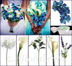 #blue wedding #blue orchid bouquet #afloral http://blog.afloral.com/daily-scoop/blue-and-purple-wedding-flowers-margaret-annes-inspiration-board/