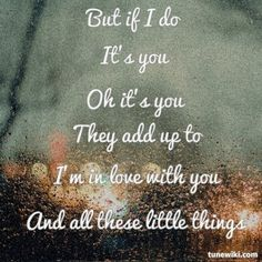 Little Things by One Direction