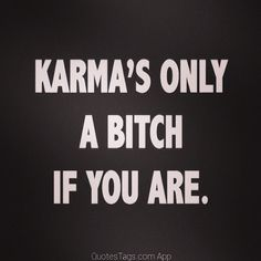 Karmas only a bitch if you are life quotes quotes quote life truth karma life lessons inspiration instagram instagram quotes so true