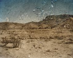 Tent-Camera Image On Ground:View Looking Southeast Toward The Chisos Mountains. Big Bend National Park, Texas, 2010, Abelardo Morell