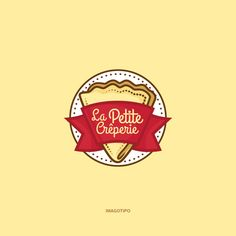 La Petite Crêperie Crepe Cafe, Crepes And Waffles, Pancakes, Restaurant Logo Design, Logo Food, Logo Design Inspiration, Packaging Design, Branding, Packing