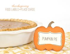 Silhouette Blog: Thanksgiving Food Labels /Place Cards
