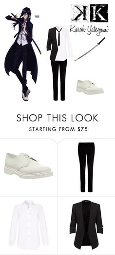 """K Project Inspired Outfit: Kuroh Yatogami"" by malia-the-otaku ❤ liked on Polyvore featuring Dr. Martens, Ted Baker and M.i.h Jeans"