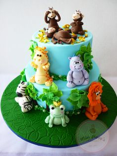 For a 6 year old boy that loves animals, zebra, frog, lion, giraffe, hippo and monkeys. The monkeys are my favourite, especially the one pointing and laughing at the monkey that overdosed on banana's. Too much cuteness!!