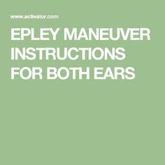 epley maneuver instructions pdf