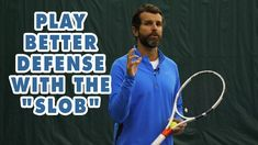 """Today we show you how to hit something we call the """"SLOB."""" This video is for players with a PlayYourCourt rating of 50 to Tennis Lessons, Tennis Tips, Best Defense, Free Training, Tennis Racket, Coaching, How To Become, Play, Sports"""