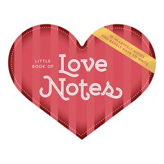 Knock Knock Little Book of Loves Notes are easy, unique Valentine's Day gifts! Heart-shaped notes perfect for lunch bag, on a windshield, or under a pillow.