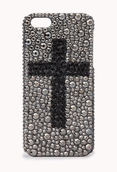 Rhinestoned Cross Phone Case   FOREVER21 Oh look, the cross is right-side up. Design flaw!