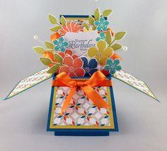 Card in a box, bright & cheery