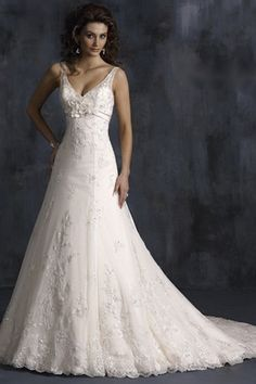 Tank neck satin with appliqued tulle out-layer wedding dress  SPECIAL PRICE: $142.45