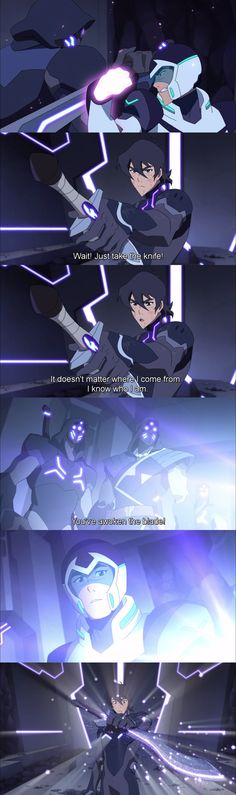 This scene was beautiful << SHIRO WAS READY TO FUCKING DIE FOR HIM TO PROTECT KEITH'S PRIDE AND HIS ATTACHMENT TO THAT KNIFE THIS PALADIN IS PALADOUT