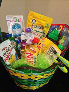 Diy easter basket for him boyfriend husband fiance holiday easter basket for 1 year old boy negle Choice Image