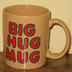 As seen on the True Detective television series, the Big Hug Mug. Available on eBay. $29.95.
