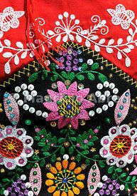 Traditional costume (Lavradeira) of Minho. Our Lady of Agony Festivities, the biggest traditional festival in Portugal. Viana do Castelo. #patterns #embroidery