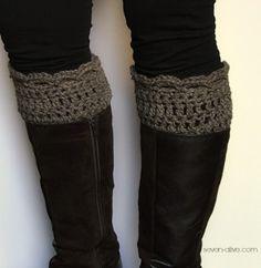 Crocheted Boot Cuff - free pattern