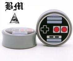 Oldskool Video Game Controller BMA Plugs #bodyjewelry #plugs #tunnels #eartunnels #piercings