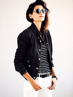Free People Fitted Utility Jacket, $148.00  love this! could go with anything