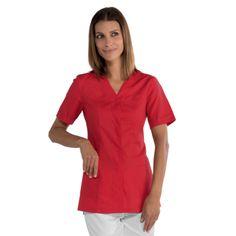tunique médicale rouge