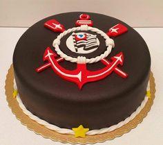 Resultado de imagem para bolo decorado escudo corinthians
