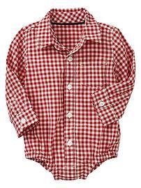 Mini checkered bodysuit