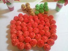 Vanilla Bean cupcakes customized for a Teacher Retirement party.