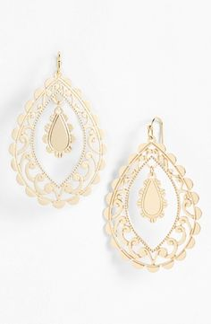 Nordstrom 'Delicate Lace' Open Drop Earrings from Nordstrom on Catalog Spree