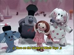The Island of Misfit Toys (Rudolph the Red Nosed Reindeer) Rudolph Red Nosed Reindeer, Rudolph The Red, Christmas Shows, Christmas Door, Christmas Movies, Christmas Time, Christmas Classics, Christmas Specials, Rudolph Christmas
