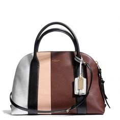 Coach Bleecker Preston Satchel In Colorblock Leather found on Polyvore