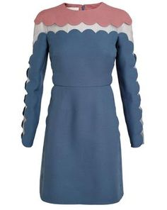 VALENTINO Scalloped Wool and Silk Dress on shopstyle.ca