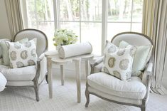 The perfect accent chairs and accent table for that small space in your home