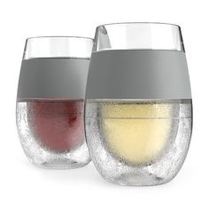 Host Wine Freeze Cooling Cups, Gray (Set of 2) HOST