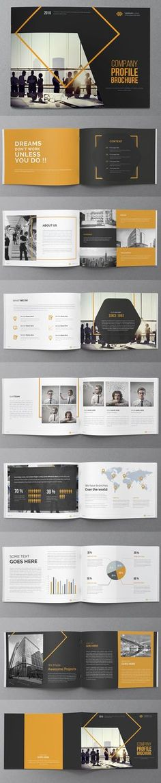 We are a quick and affordable brochure design agency for your Company. Get a stunning Company brochure design. Unternehmensbroschüre Design, Layout Design, Design Food, Cover Design, Design Ideas, Booklet Design Layout, Book Design, Poster Layout, Print Layout