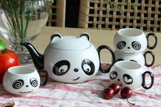 Conjunto de vajilla panda