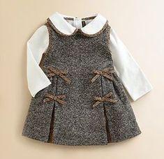 Fendi Infant's Tweed Dress: L'Enfant Wonderful