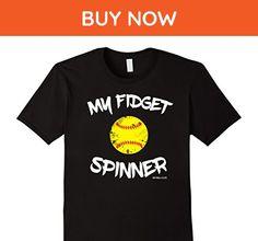Mens My Fidget Spinner Funny Softball Is Life T Shirt Medium Black - Funny shirts (*Amazon Partner-Link)