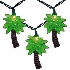 Oppnå sommerfølelsen med denne lyslenken med tropiske palmer Christmas Ornaments, Holiday Decor, Products, Christmas Jewelry, Christmas Decorations, Christmas Decor, Gadget
