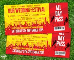 concert festival ticket wedding invitation http://www.wedfest.co/concert-ticket-wedding-invitations/